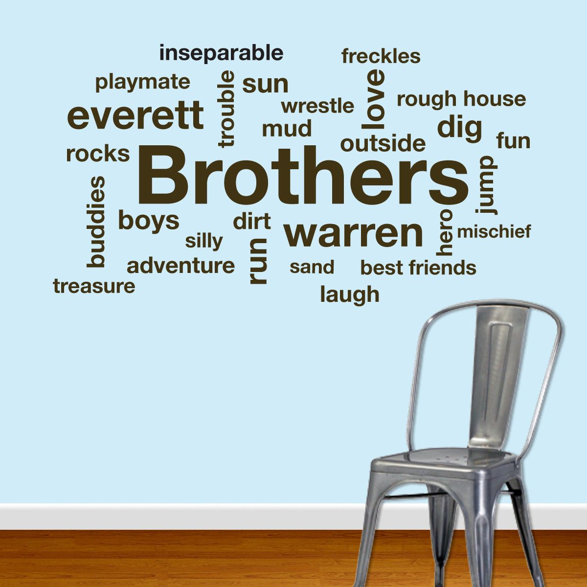 Brothers Subway Wall Art Wall Decal. $50.00, via Etsy.