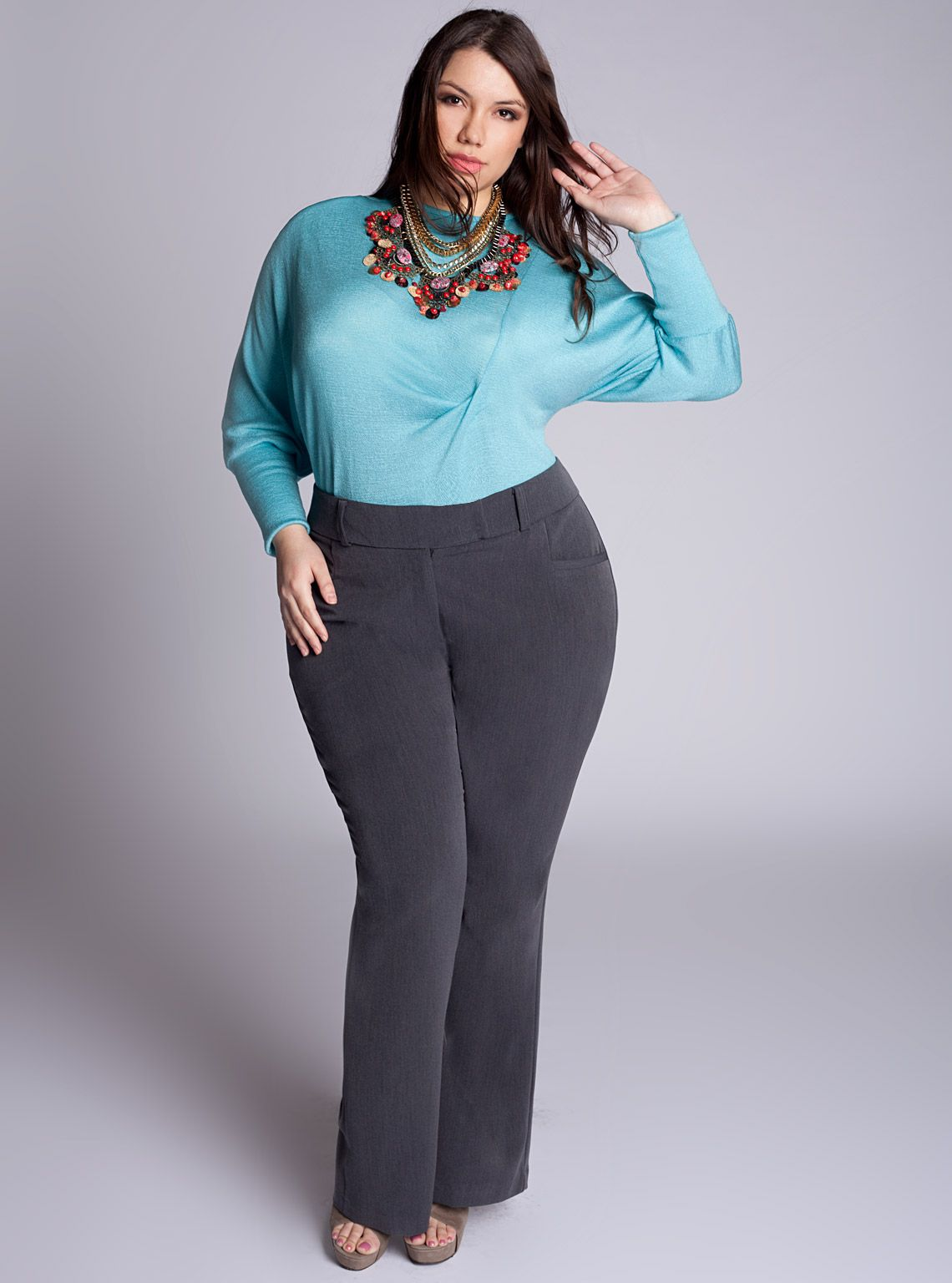 home shop pants trina plus size pants in charcoal | fashionista
