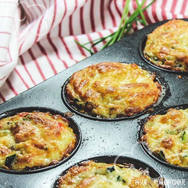 Gemüse-Muffins - Essen ohne Kohlenhydrate #lowcarbveggies