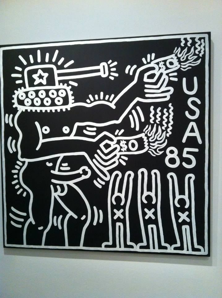 Keith Haring The Political Line Musee D Art Moderne De Paris