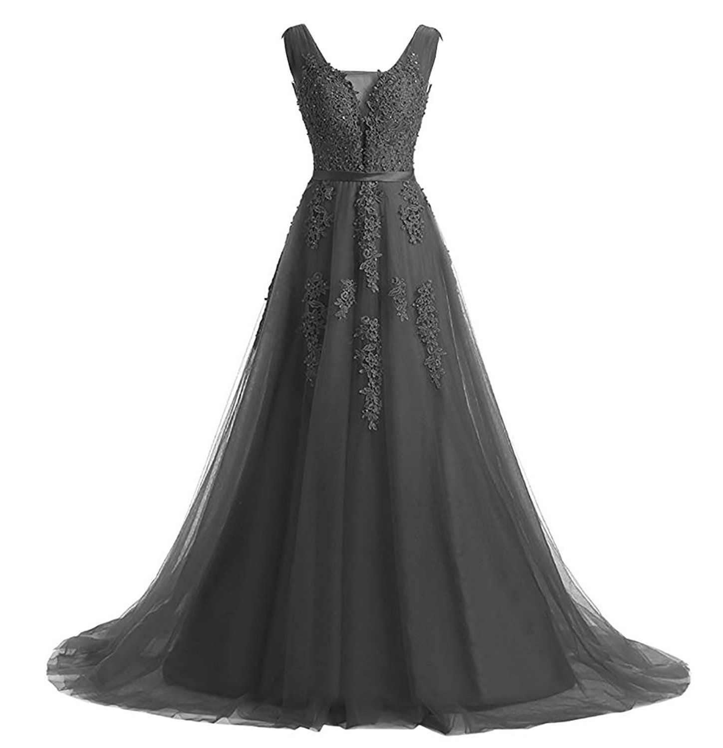 Yinyyinhs womenus vintage tulle beaded lace appliques evening long