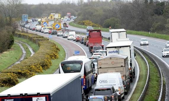 Traffic Alert Two Vehicle Crash Closes M1 Motorway Lanes In Northern Ireland The Belfast Bound Carriageway Near Junction 8 Northern Ireland Motorway Ireland