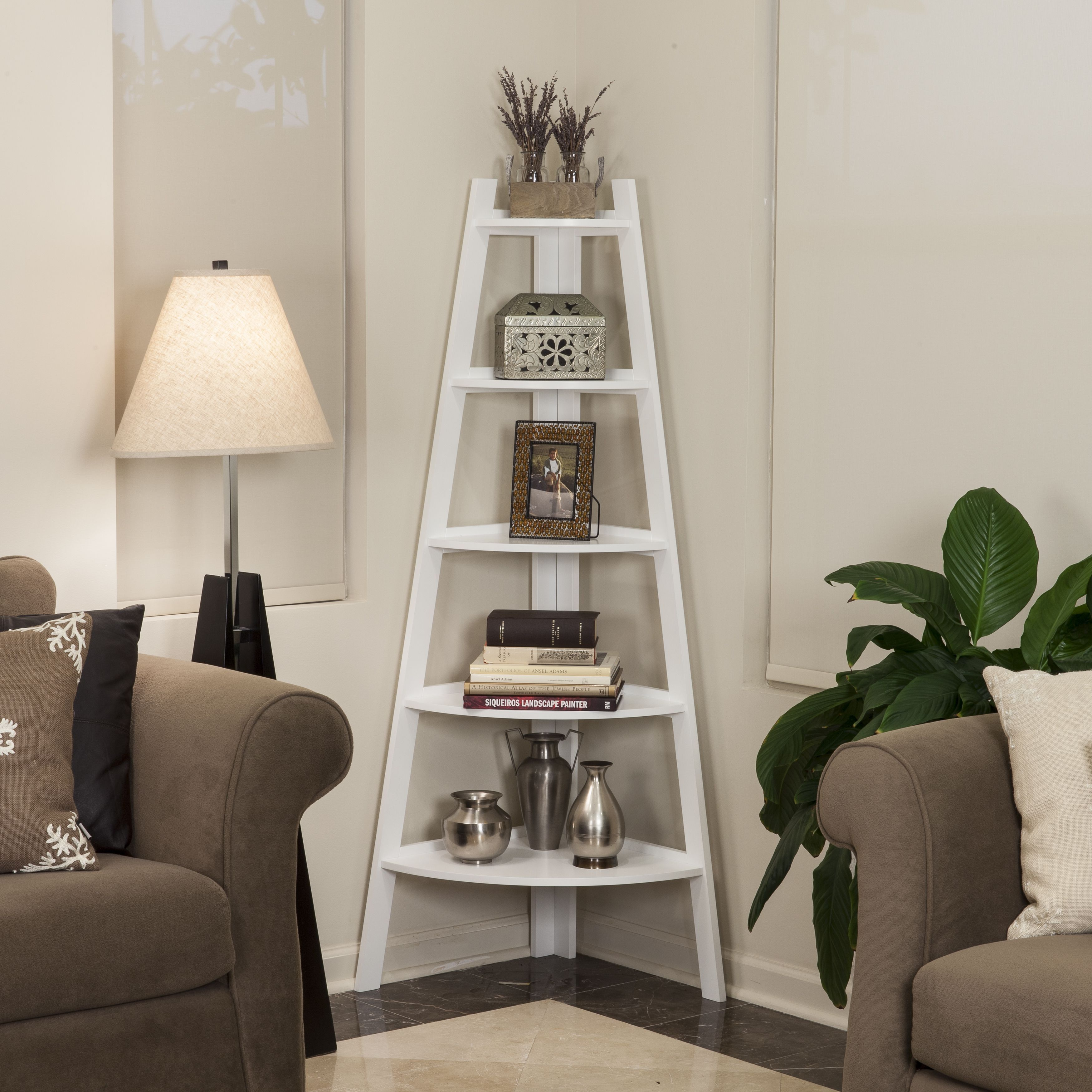bookshelf storage modern ravishing ladder also room floors organization decorating painted wall bookcase white living well as finished on shelf for b grey ideas inspiration picturesque wooden small design brown