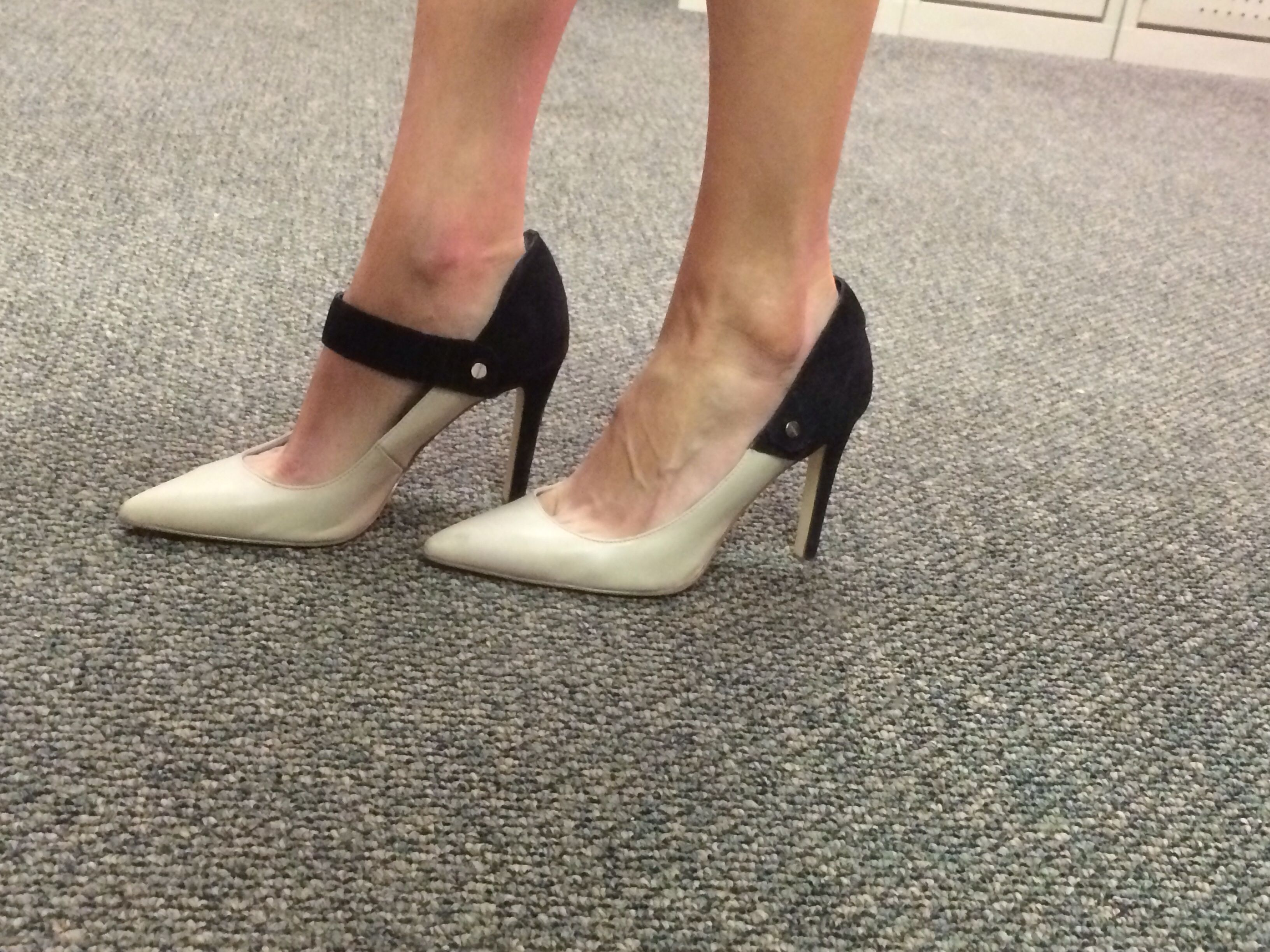 The Shoes Can Be Worn Two Ways I Love Them Dsw Stiletto Pumps Pumps Kitten Heels