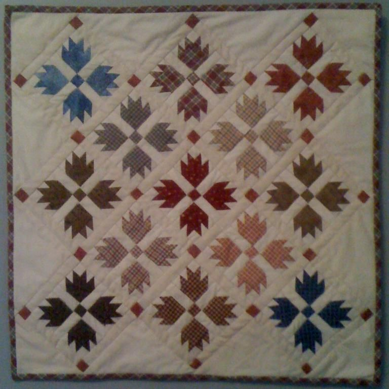 Bear Paw wall hanging project on Craftsy.com | quilts I love ... : bear claw quilt pattern - Adamdwight.com