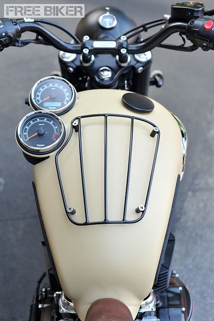 Cool Stuff We Like Here @ http://CoolPile.com ------- << Original Comment >> ------- Triumph tank with molded instruments and luggage rack