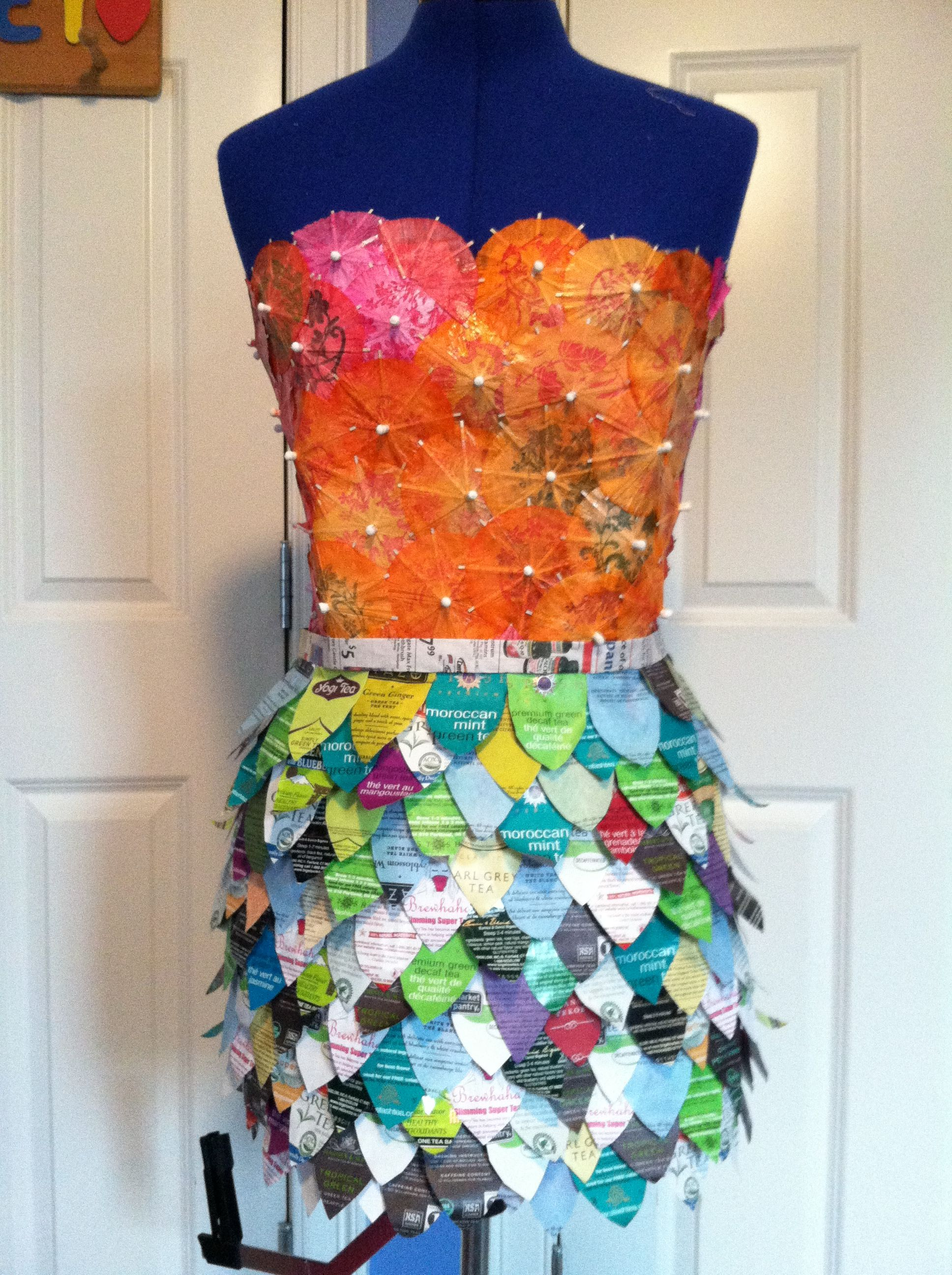 Dress made out of recycled materials google search the for Make something out of recycled materials