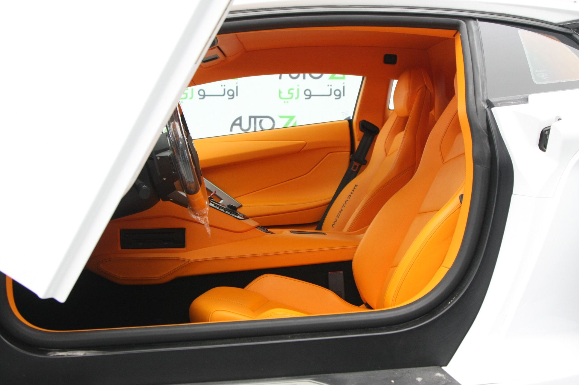 Lamborghini Aventador orange and black arancia interior ...