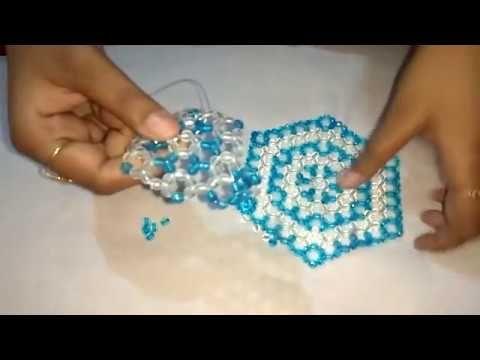 How To Make Beaded Coaster Table Mat Hexagon Coaster