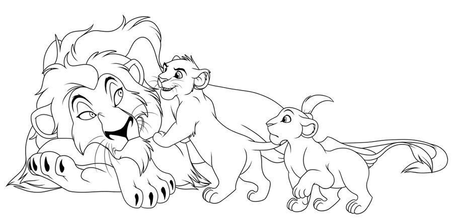 Urgh, what do YOU want? by kohu-scribbles | Adult/ Old Simba & Nala ...