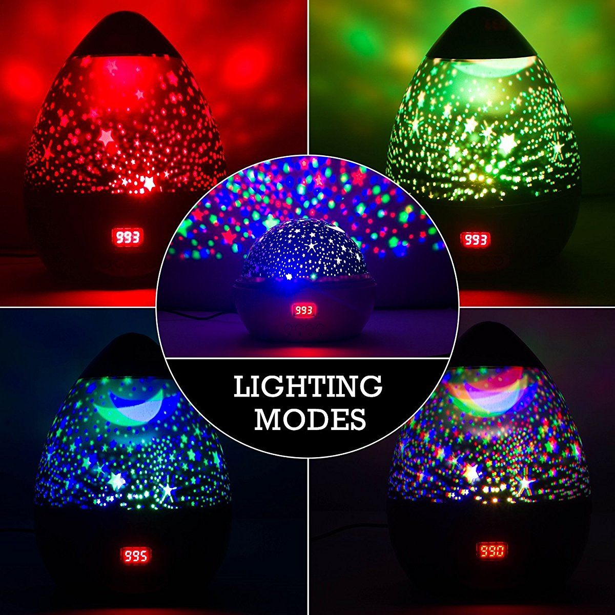 Newest Night Light Multiple Colors Star Light Rotating Projector