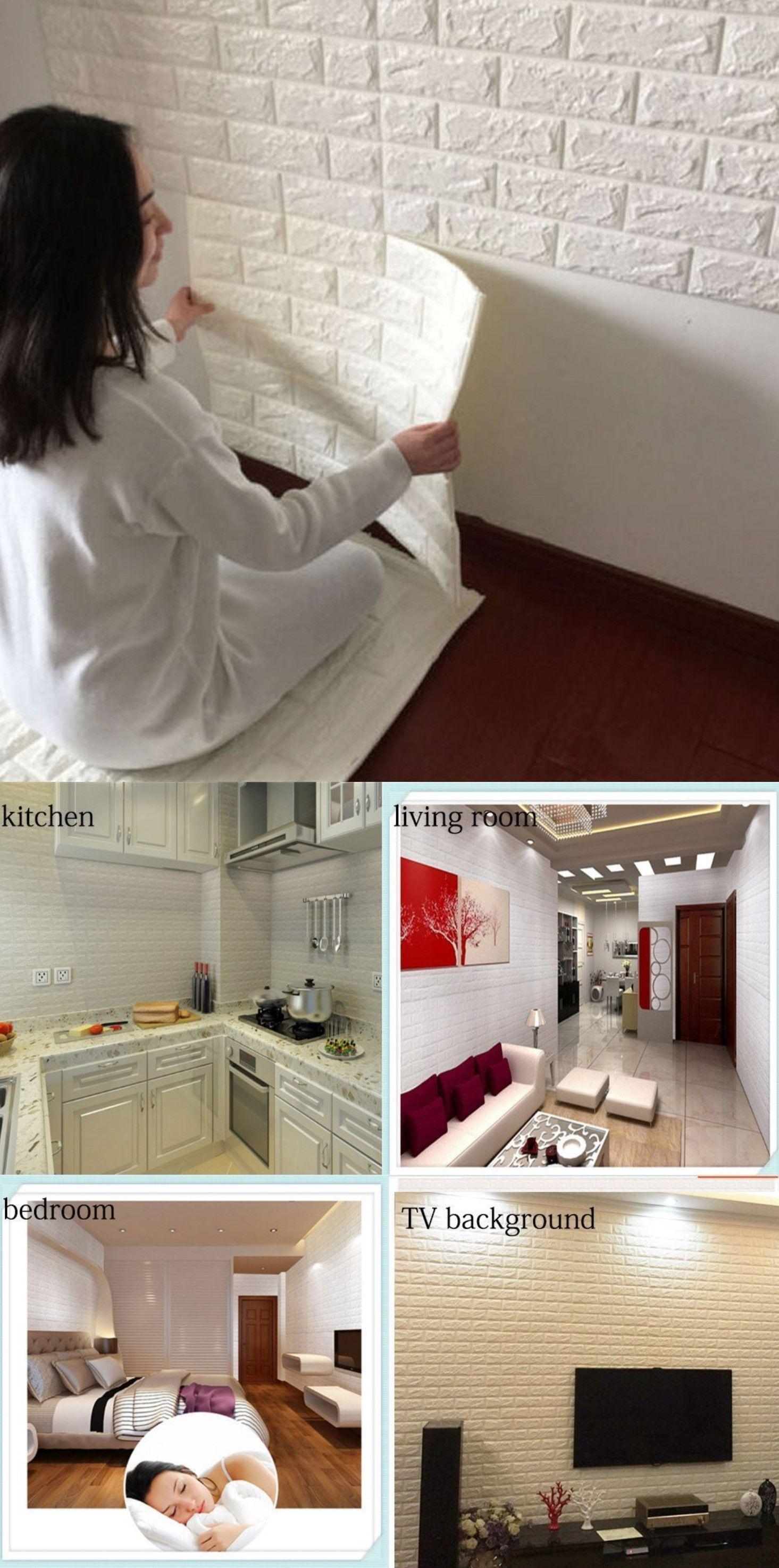 Attraktiv DODOING Fliesensticker Aufkleber Fliesenbild Selbstklebend Tapete Design  Moderne 3D Optik Für Wohnzimmer, Schlafzimmer Oder Küche