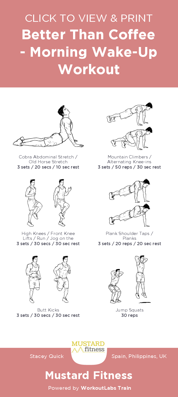 better than coffee morning wake up workout free illustrated