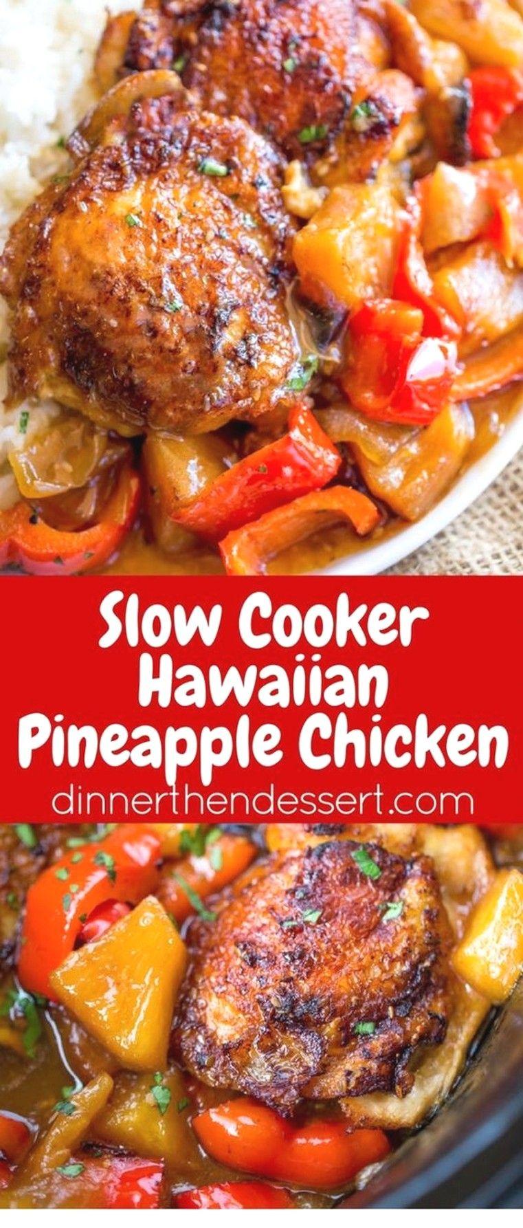 Slow Cooker Hawaiian Pineapple Chicken Crockpot Recipes Chicken Slow Cooker Recipes Easy Slow Cooker Recipes Crockpot Recipes Slow Cooker