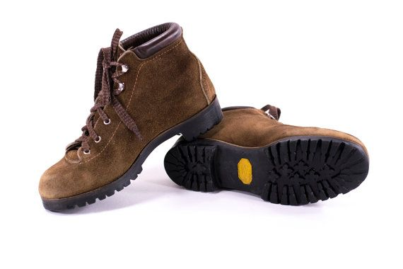 Vasque Hiking Boots Brown Leather Vintage 70s Winter Snow ...