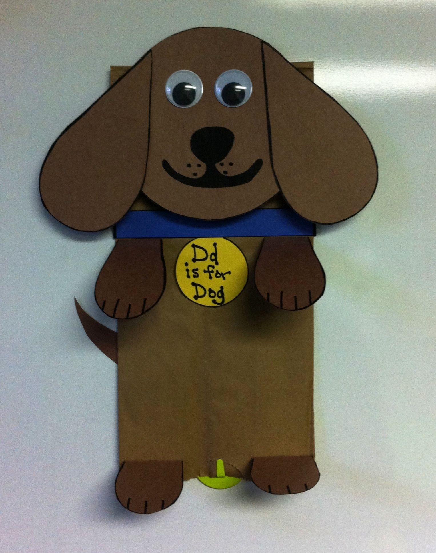 Letter D Is For Dog Paper Bag Craft