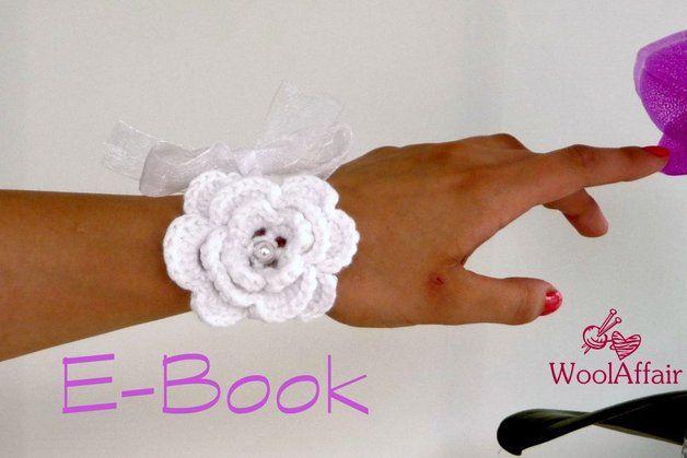 Häkelanleitung #74 ♥ Hochzeitsarmband DIY Hochzeit ...