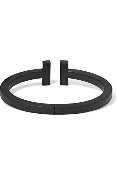 aa69d6a226 Tiffany & Co. - T Square Coated Steel Bracelet - Black   Products ...