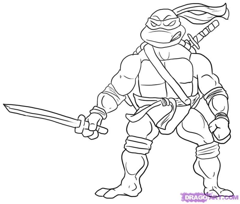Teenage Mutant Ninja Turtle Printable Pgina para colorear