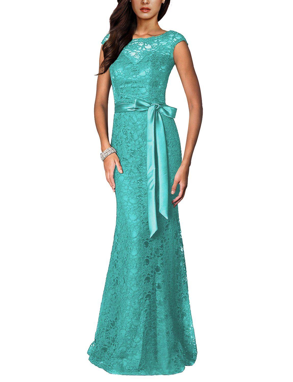 f3377495f6a0 Irenephil Womens Elegant Floral Lace Sleeveless Halter Bridesmaid Maxi  Dress Tiffany 6     See