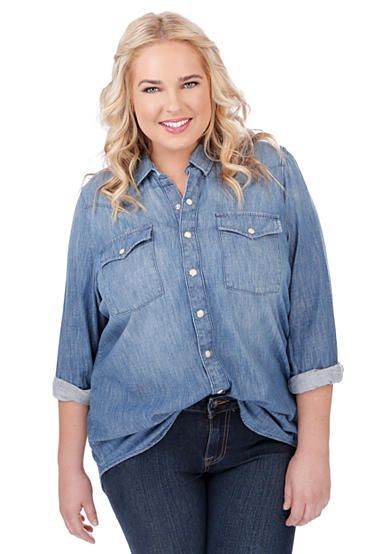 64640976f9590 Lucky Brand Plus Size Classic Western Shirt
