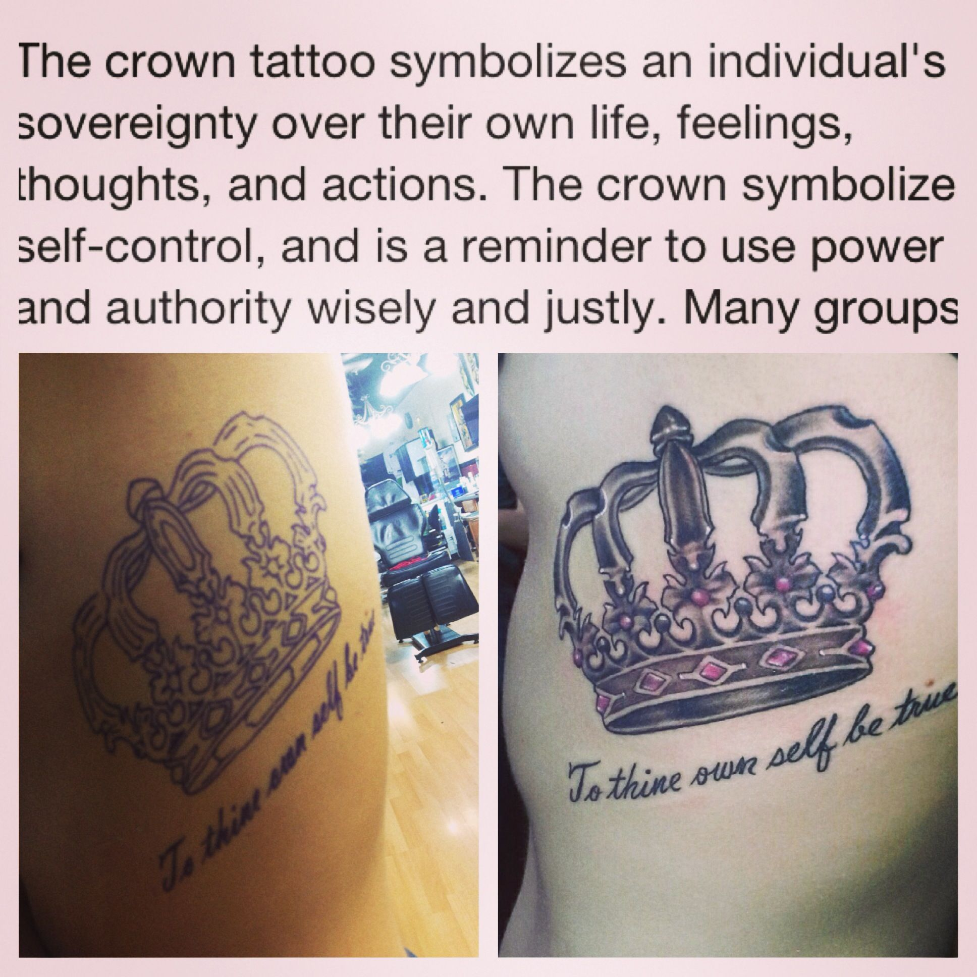 Crown Tattoo, To Thine Own Self Be True, Crown Tattoo And