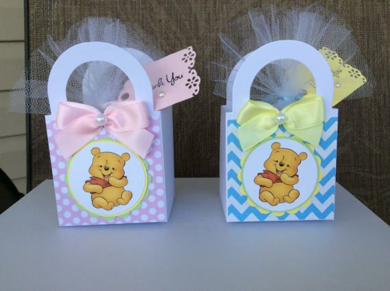 12 Winnie The Pooh Baby Shower Favor Boxes/Girl Winnie The