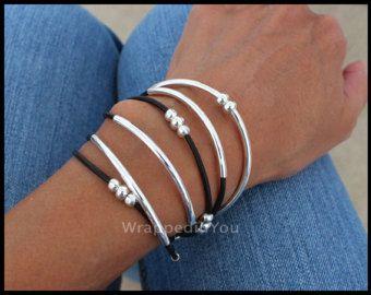 TOHO BOHO Wrap Bracelet  Triple Wrap Toho Beaded Cotton Cord