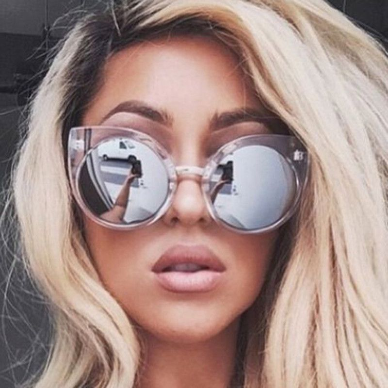 10a3450b0fdba Vintage Cat Eye Sunglasses Women Brand Designer 2017 Mirror Sunglass Female  Sun Glasses For Women Glasses Oculos De Sol Feminino