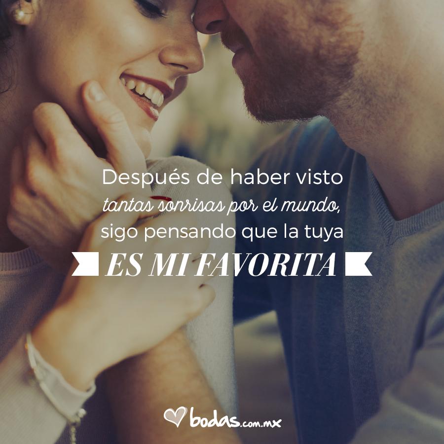 Después de haber visto tantas sonrisas por el mundo, sigo pensando que la  tuya es mi favorita. #l… | Imagenes de enamorados, Amor de pareja frases,  Frases de pareja