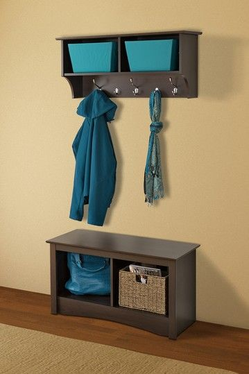 Prepac 36 Wide Espresso Hanging Entryway Shelf Hanging Entryway Shelf Prepac Entryway Shelf