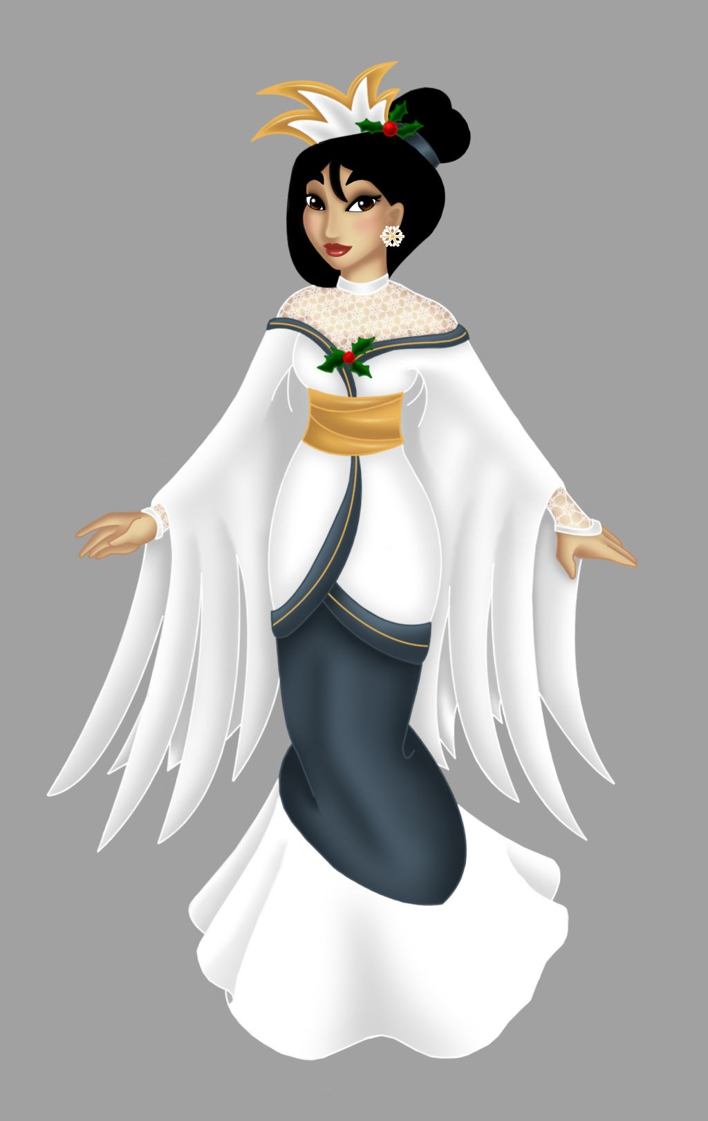 Christmas dress up - Mulan Dress Up Deviantart Mulan Christmas Dress By Opal I