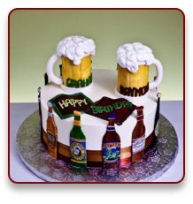 Beer Cake Beer Themed Cake Adult Birthday Cakes Liquor Cake