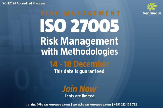 ISO 27005 Risk Manager with Methodologies [Risk Management] Register Online