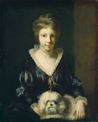 """Portrait of Miss Beatrix Lister"" by Sir Joshua Reynolds. 1765 oil on canvas. In the collection of The national Gallery of Art, Washington, DC. Gift of Margaret Mellon Hitchcock."