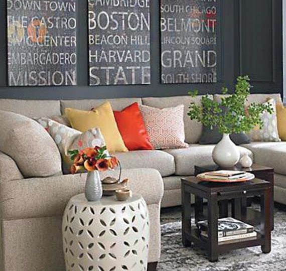 What to Hang Above a Sectional Sofa | Living room furniture ...