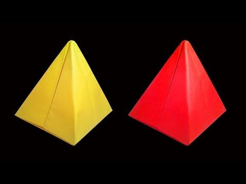 Paper Pyramids Are Fun And Interesting Objects To Make This Video Shows How Origami Pyramid By Easy Steps Is A Just Simple Craf