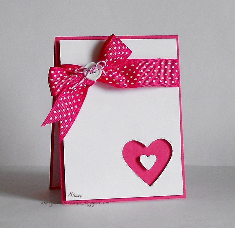 valentineu0027s day card quick and easy cards pinterest cards valentine ribbon