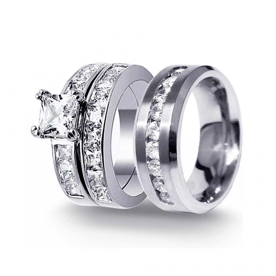 32 Stunning Silver Wedding Rings For Men And Women | Silver wedding ...