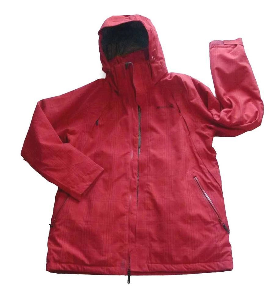 4a9f38297 MERRELL Opti-Shell / Opti-Warm Hooded Jacket Women's Large Red Plaid ...