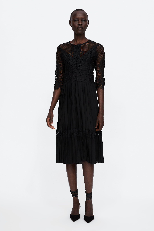Combined DressFashion Noire Pleated PlisséeEt Robe xoWderBC