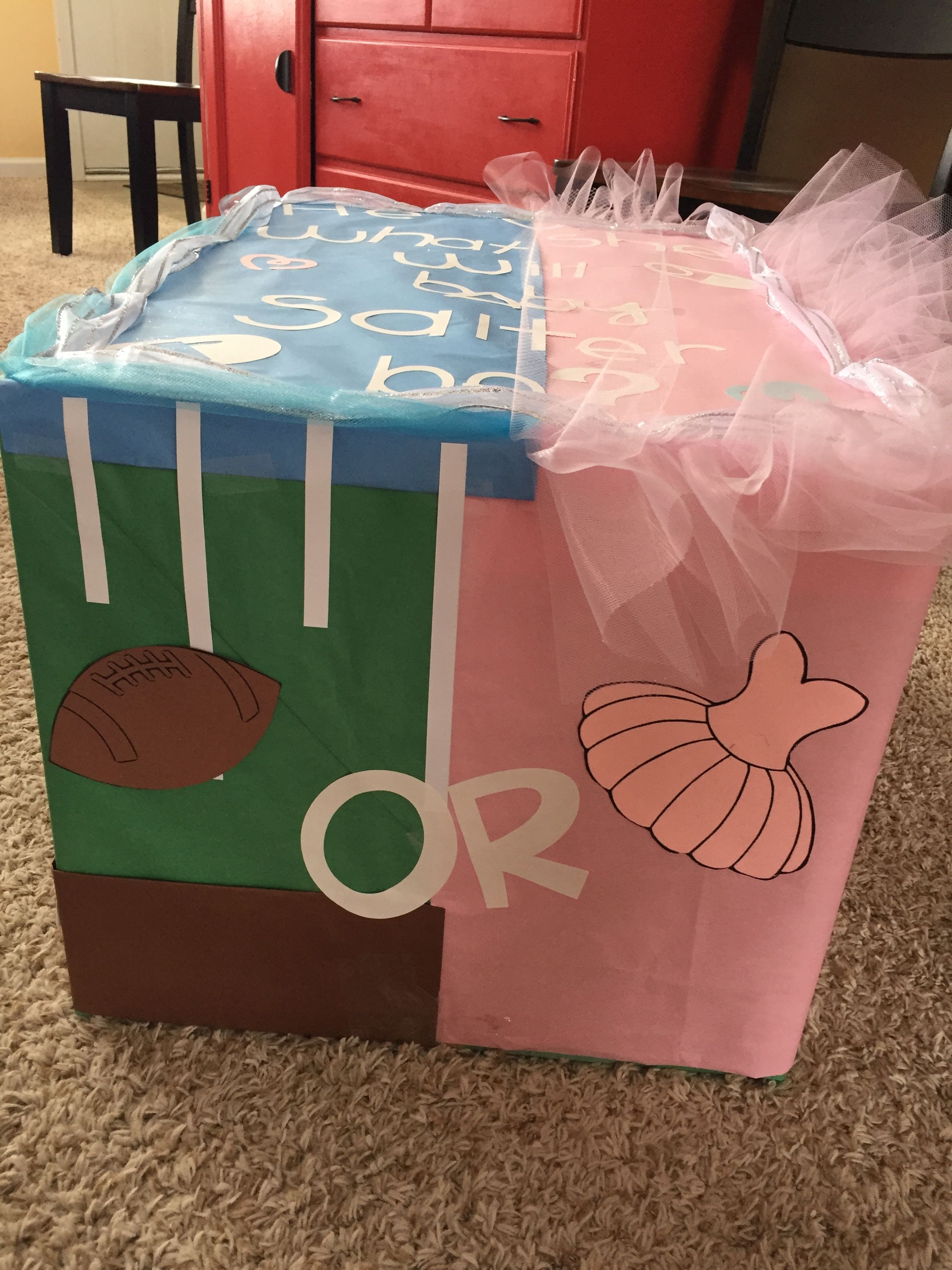 Touchdowns Or Tutus Gender Reveal Party Baby Gender Reveal Party Tutus Gender Reveal Gender Reveal Decorations