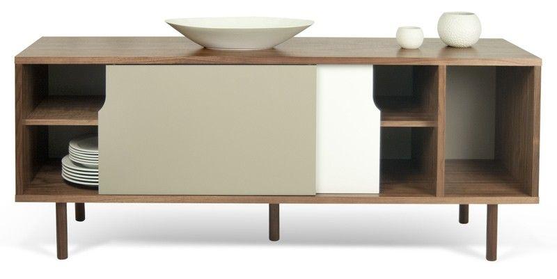 Credenza Dann : Dann sideboard oak pure white tema home modern manhattan