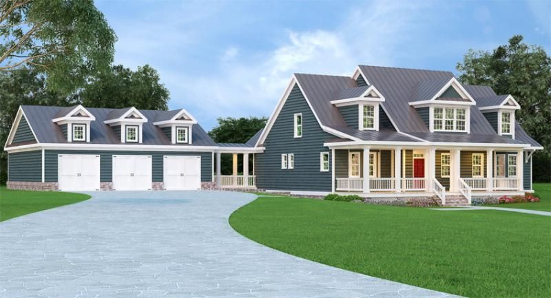 House Plan 009 00207 Cape Cod Plan 3 362 Square Feet 3 Bedrooms 2 5 Bathrooms Country Style House Plans Cape Cod House Plans Cape Cod House Exterior