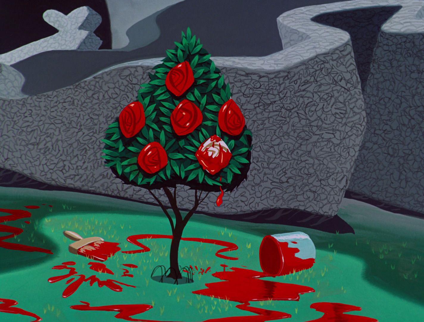 alice in wonderland painted rose