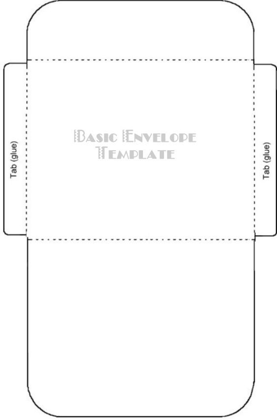 Free printable card envelope templates for Mailer format template