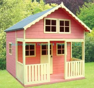 Hot Item Outdoor Wooden Playhouse Qzw1032 Play Houses Wooden