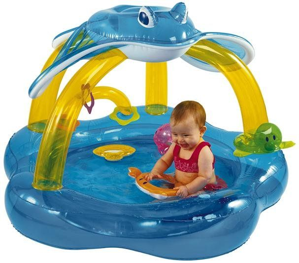 Intex Baby Inflatable Pool Float With Canopy Baby Pool Floats Baby Pool Inflatable Pool Floats