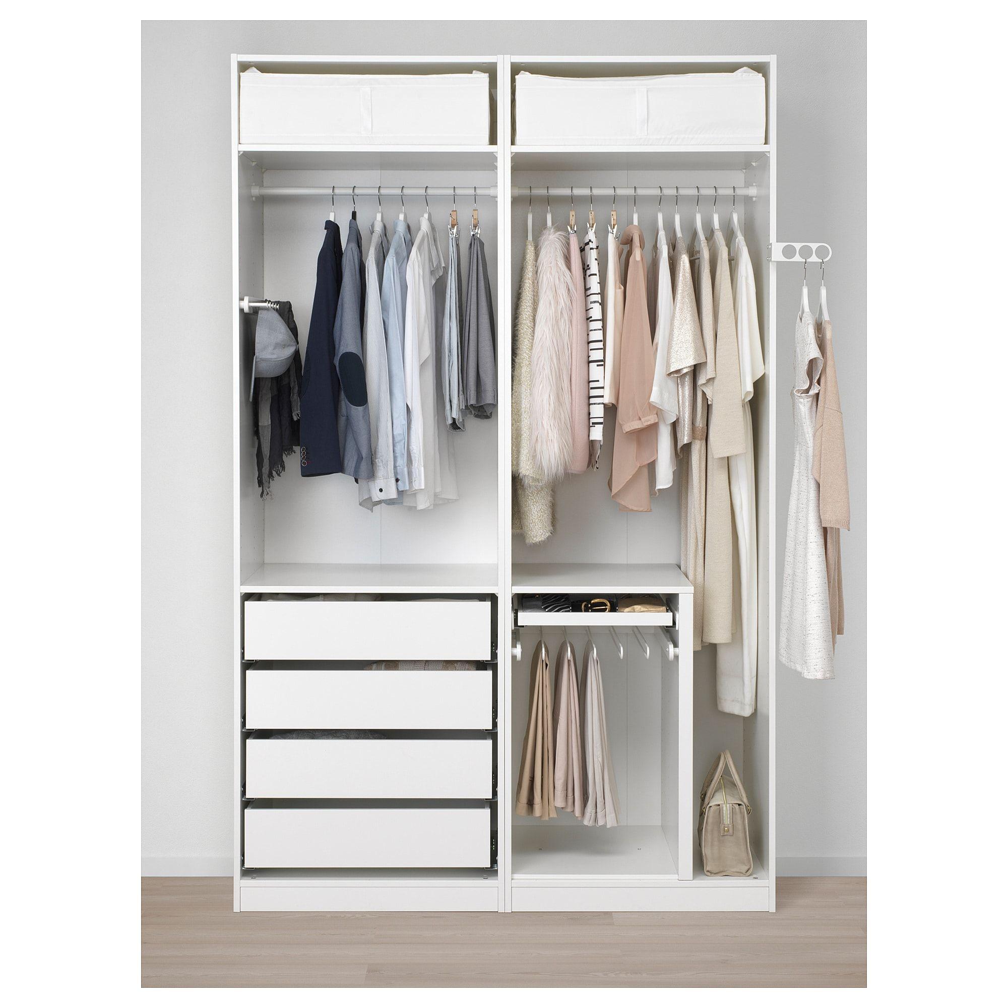 Ausgezeichnet Schlafzimmer Ohne Kleiderschrank Kleine: PAX Kleiderschrank, Weiß In 2019