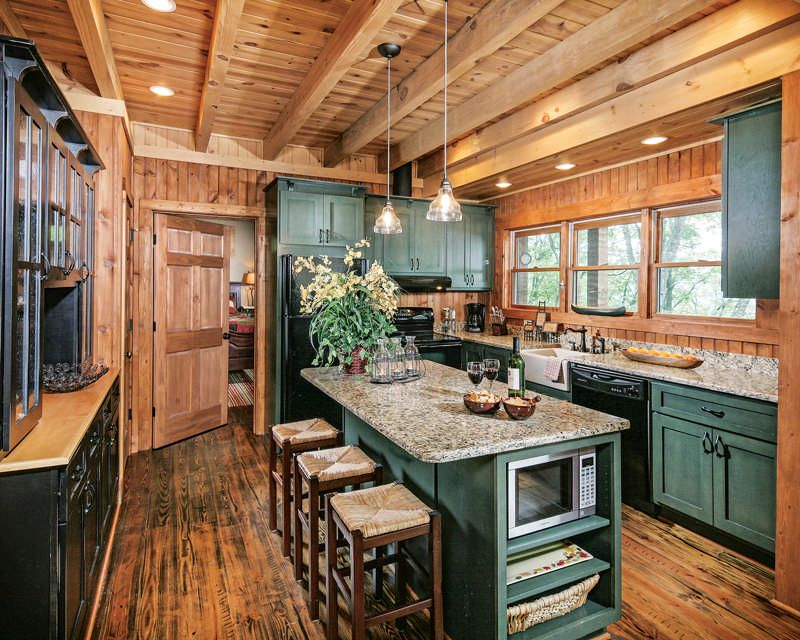 Photo of Deep in the Forest in a Georgia Log Home